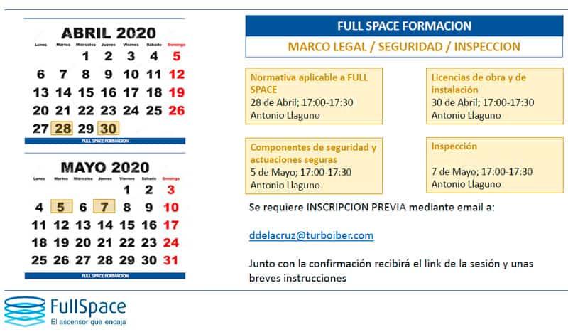 Módulo marco legal, seguridad e inspección del Plan de Formación de FullSpace